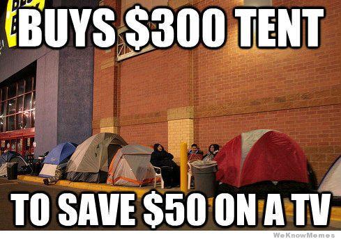 Black Friday tent