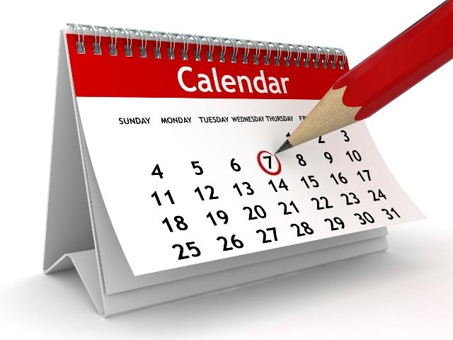 Circled calendar