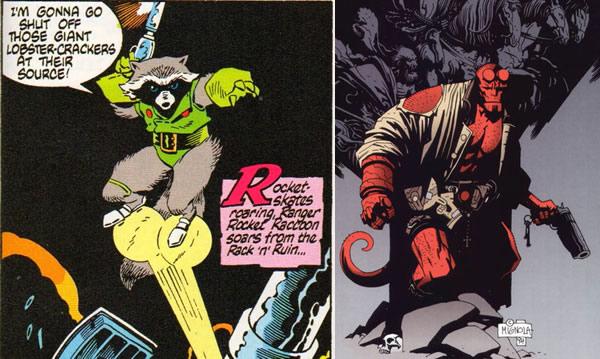 Rocket Raccoon and Hellboy
