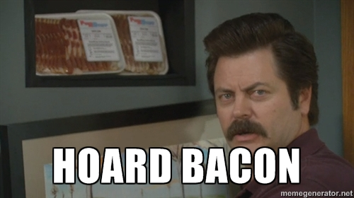 Ron Swanson bacon