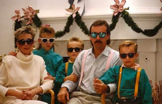 Awkward 80s Family