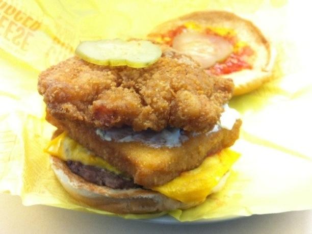 Land Sea and Air burger