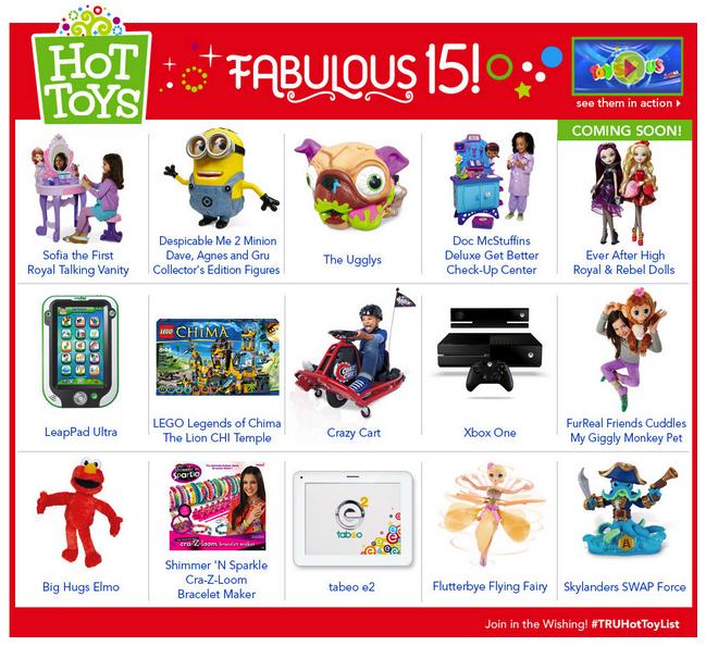 fab 15 toys 2013
