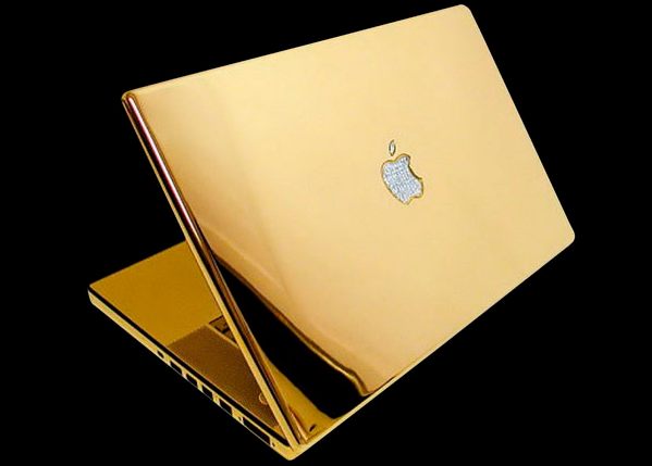 gold laptop