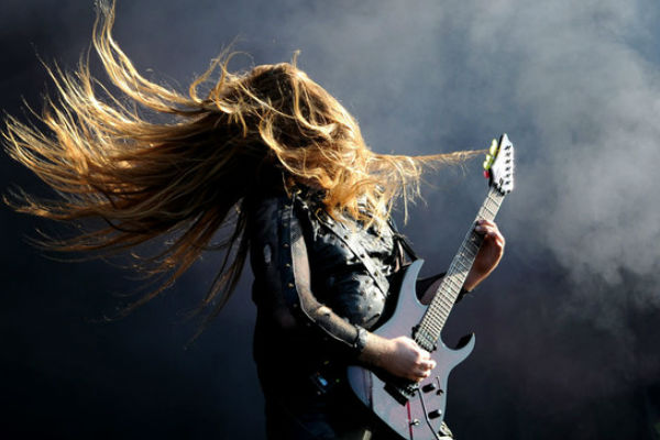 heavy metal headbanger