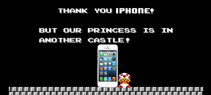 iPhone Mario Castle