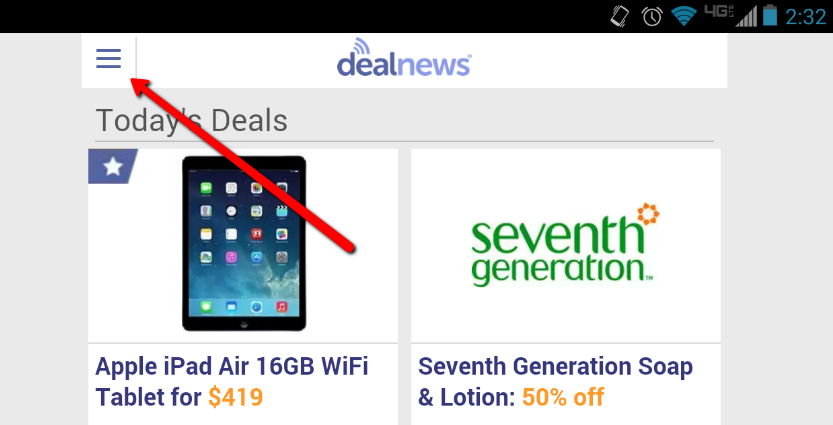 See Saved Deals On Mobile