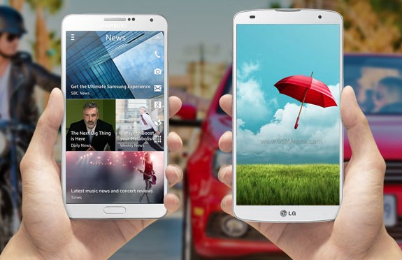 samsung note LG Pro 2