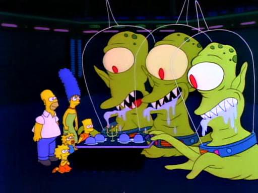 Simpsons Aliens