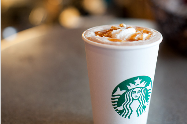 Starbucks caramel mocha