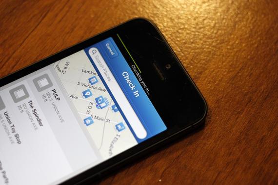 Check in Foursquare app