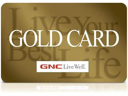 GNC Gold Card