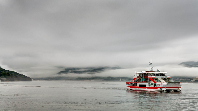 Ferry on water