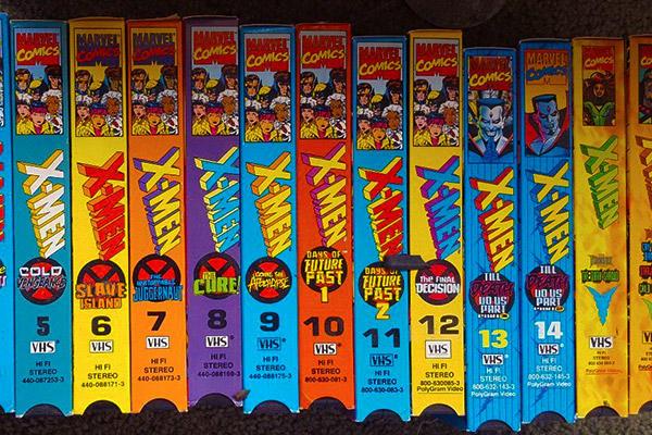 X-Men VHS tapes