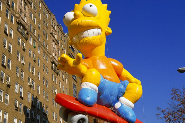 Bart Simpson in Macy's Parade