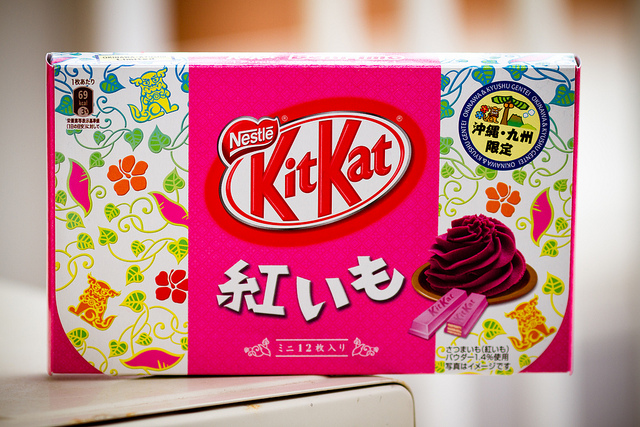 purple sweet potato kit kat