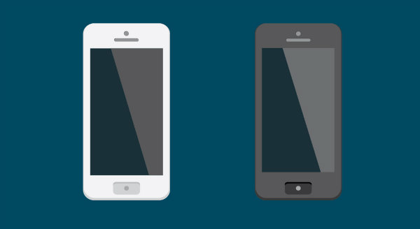 image Black and White Smartphones