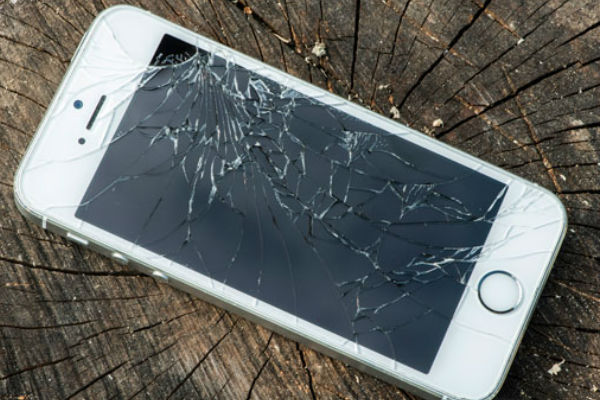 Cracked iPhone Stump