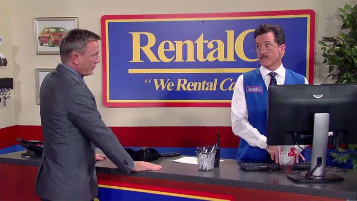 Daniel Craig rents car