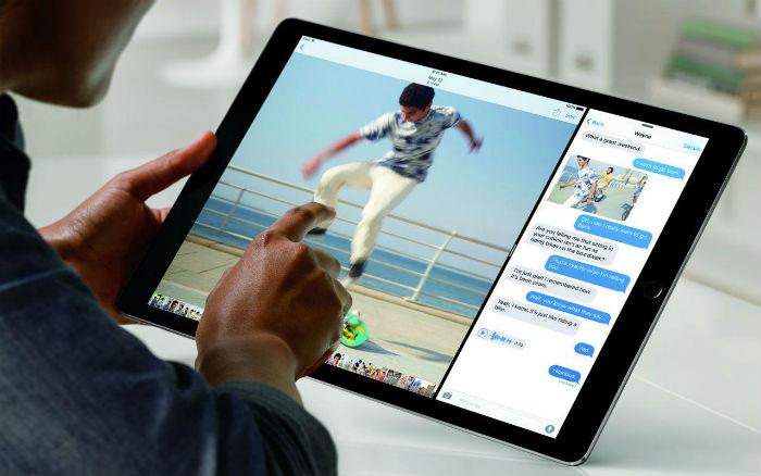 Person using iPad Pro
