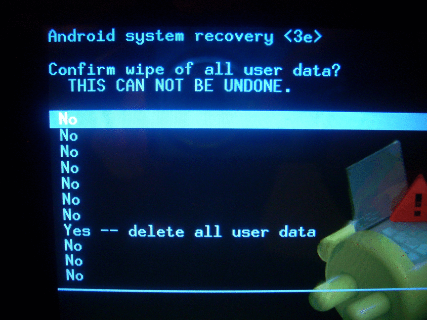 Android reset