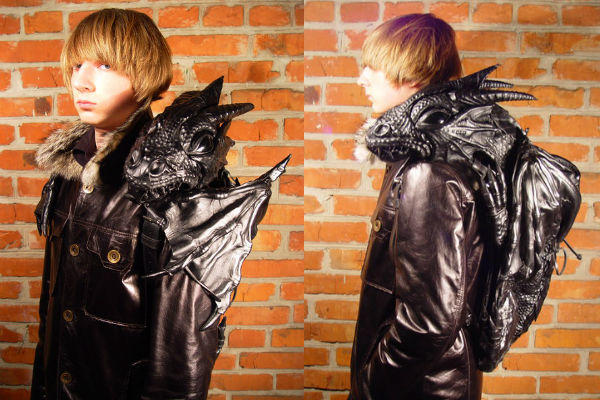Leather Dragon Backpack