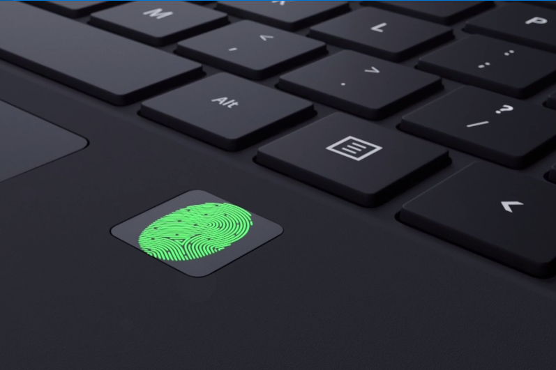 Fingerprint reader on Microsoft Surface Pro 4