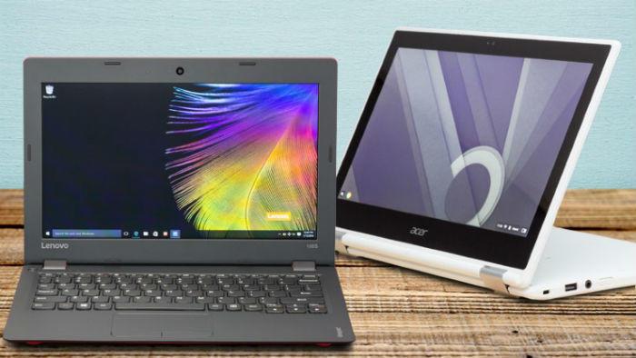 Lenovo and Acer laptops