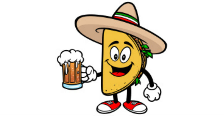 Taco Drinking A Beer