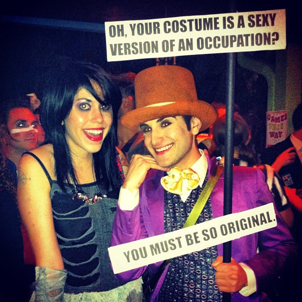 Willy Wonka meme costume